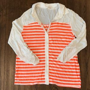 Ella Moss Long Sleeved Striped Blouse